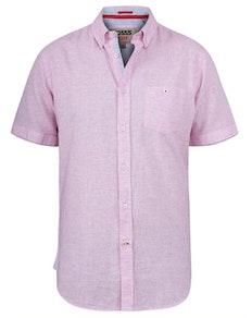 D555 Reid Linen Mix Shirt Pink