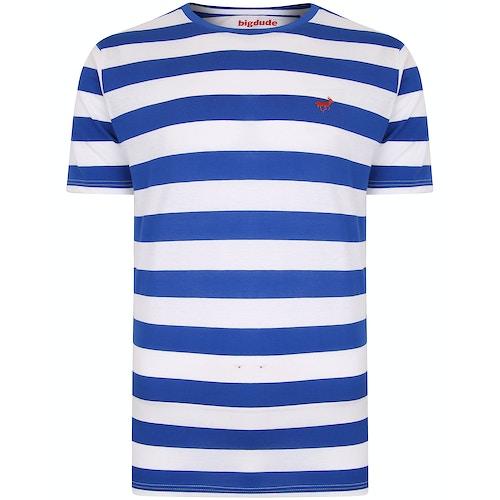 Bigdude Logo T-Shirt Königsblau/Weiß