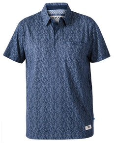 D555 Sefton Floral Polo Shirt Navy