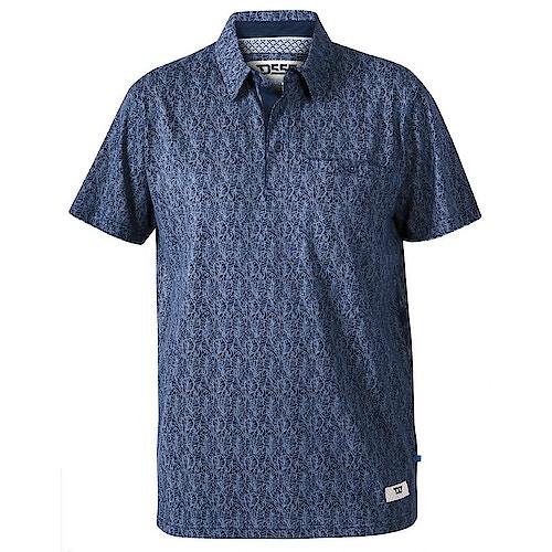 D555 Sefton Floral Polo Shirt Navy