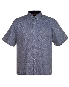 Espionage Floral Print Shirt Navy/White