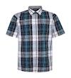Check Shirt With Short Sleeves Navy/Green