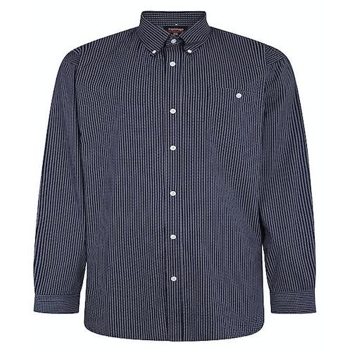 Espionage Kurzarmhemd mit geometrischem Print Blau