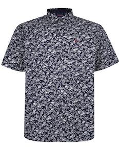 Espionage Floral Shirt Navy/White