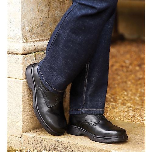 DB Shoes Shannon Wide Fit Black Leather Shoe