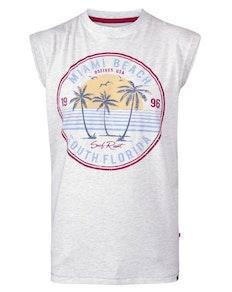 D555 Shipley Miami Beach Printed Vest Top White Marl