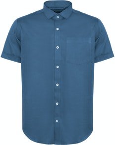 Bigdude Fine Twill Short Sleeve Shirt Blue Tall
