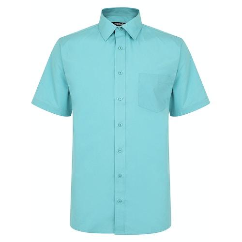 Bigdude Classic Short Sleeve Poplin Shirt Green