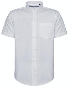 Bigdude Fine Twill Short Sleeve Shirt White Tall