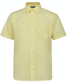 Bigdude Classic Short Sleeve Poplin Shirt Lemon
