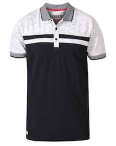 D555 Spider Cut And Sew Jersey Polo Shirt Black