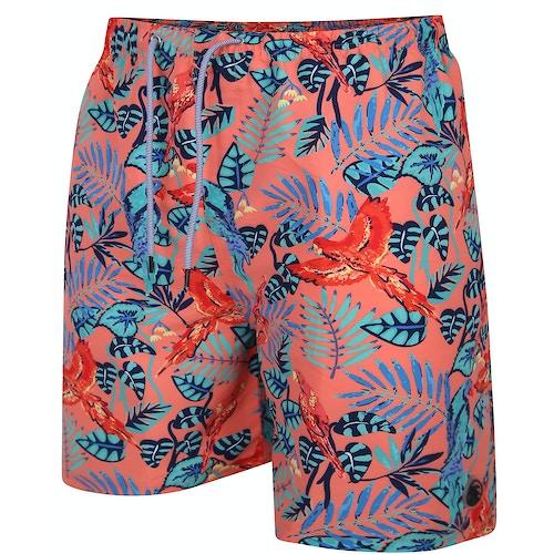 Espionage Jungle Swim Shorts Coral
