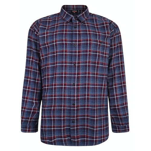 Espionage Brush Check Shirt Blue/Wine