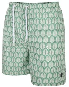 Espionage Fern Print Swim Shorts Green