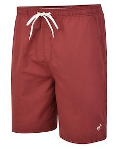 Bigdude Plain Swim Shorts Burgundy