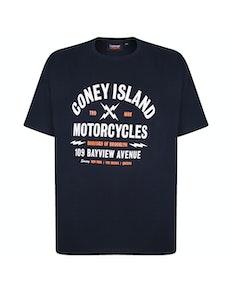 Espionage Coney Island Printed T-Shirt Black