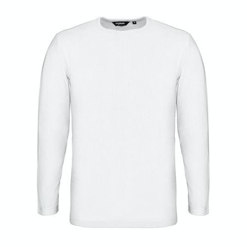 Bigdude Langarm Thermo T-Shirt Weiß