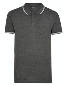 Bigdude Tipped Polo Shirt Charcoal