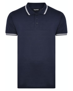 Bigdude Tipped Polo Shirt Navy