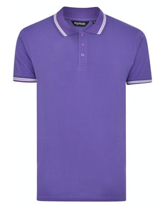 Bigdude Tipped Polo Shirt Purple