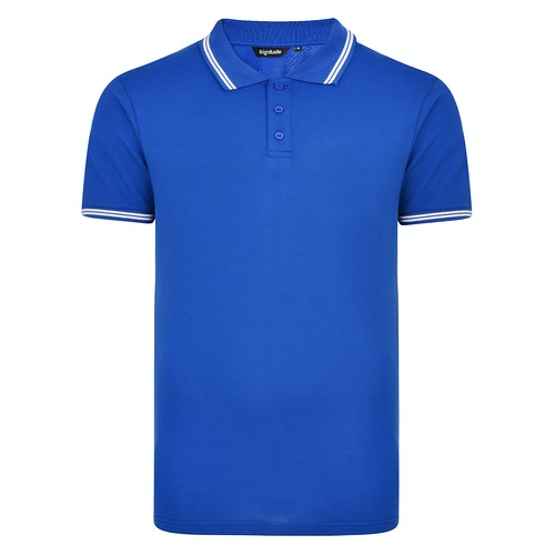Bigdude Tipped Polo Shirt Royal Blue Tall