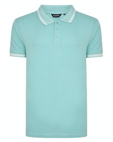 Bigdude Tipped Polo Shirt Turquoise Tall
