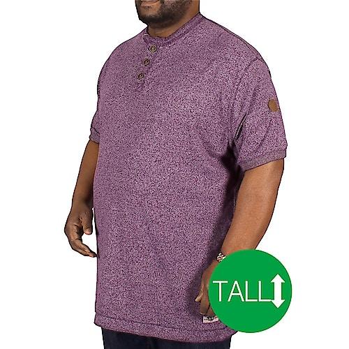 D555 gewebtes T-Shirt Paul Pflaumenblau - Tall Collection