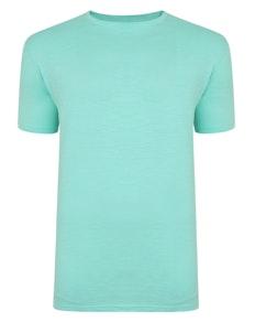 Bigdude Vintage Marl Slub T-Shirt Green Tall