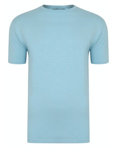 Bigdude Vintage Marl Slub T-Shirt Sky Blue