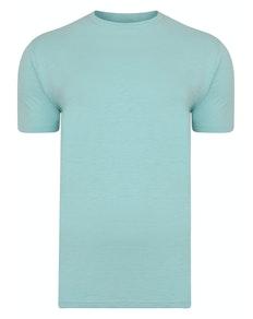 Bigdude Vintage Marl Slub T-Shirt Turquoise Tall