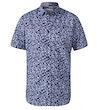 Walpack Hawaiian Print Short Sleeve Shirt Blue