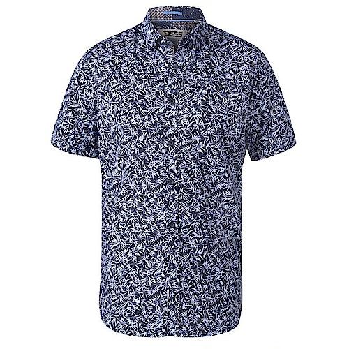 D555 Walpack Hawaiian Print Short Sleeve Shirt Blue