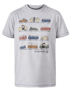 D555 Whittam Official Licensed VW Product Print T-Shirt Grey Marl