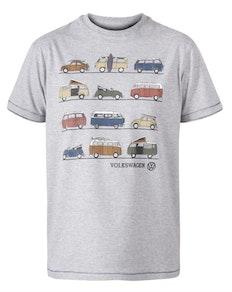 D555 Whittam Volkswagen Print T-Shirt Grau